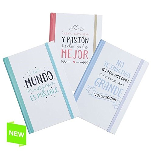 PACK 3 LIBRETA MOLESKIN FRASES 1 POR MODELO Medida: 10X14 CM