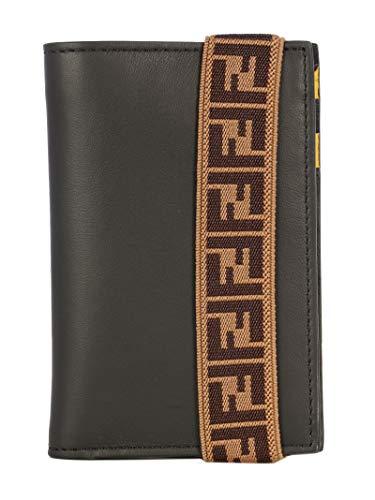 FENDI Luxury Fashion Uomo 7M0265A8VCF17BJ Nero Pelle Portafoglio | Stagione Permanente
