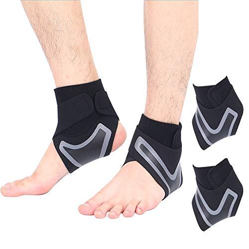 Bandage Sprunggelenk, Sprunggelenkbandage, Knöchelbandage Sprunggelenk, 2 Pcs Linke undrechte Fußbandage für Kompressionssocken geeignet für Sport Fitness,Gelenkschmerzen,Verstauchungen,Bandschäden