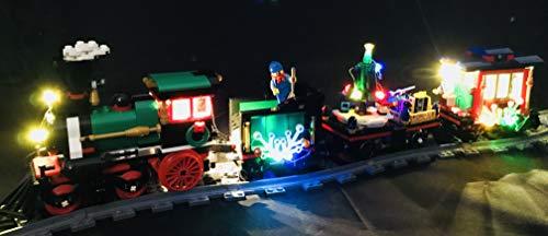 brickled LED Light Kit for Lego Winter 10254 Holiday Train USB Powered