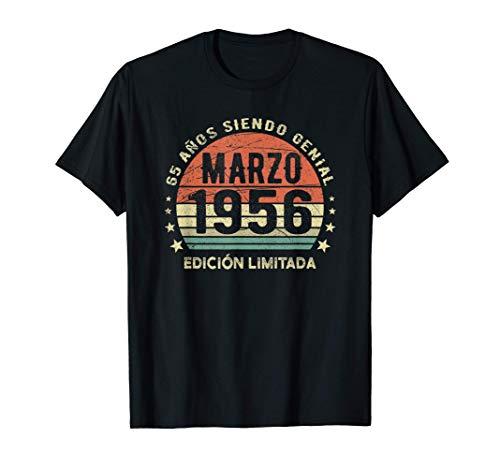 Marzo 1956 Regalo de 65 Años Cumpleaños Nacido En 1956 Camiseta