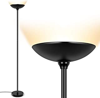Floor Lamp - Torchiere Floor Lamp, 24W Dimmable Floor Lamp, 2160 Lumens, 3000K Warm White, Energy-Saving, Metal Material, LED Floor lamp for Living Room, Standing Lamps for Bedrooms, Reading & Office