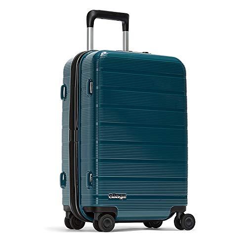 eBags Fortis Pro USB Carry-On Spinner 22 Inch (Ocean Blue)