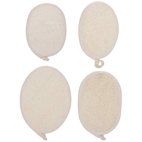 Almohadilla de ducha Luffa duradera, esponja de ducha Luffa, almohadilla de ducha de lufa suave, ligera y suave para el cuerpo de la mujer((SOUTH FIN) white)