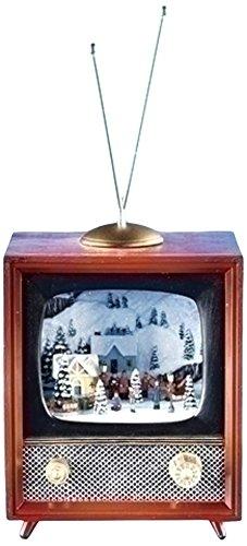 Musical TV Figurine with Rotating Train