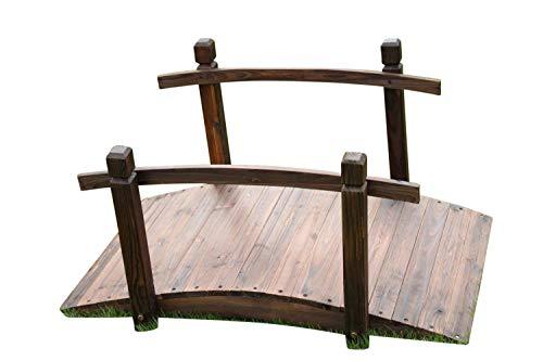 GardenMarketPlace Gartenbrücke aus Holz, 1 m breit