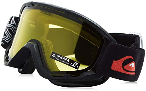 Quiksilver Men's Sherpa Bw Snowboard Goggles, Black, One Size