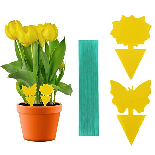 CBROSEY Gelbtafeln,Gelbsticker,Gelbfalle,Fliegenfalle Klebefalle,Gelbsticker Insekten,Klebrige Insektenfallen,20 Stück Gelbfalle Fliegenfalle für Schutz von Pflanzen im Innen und Außenbereich
