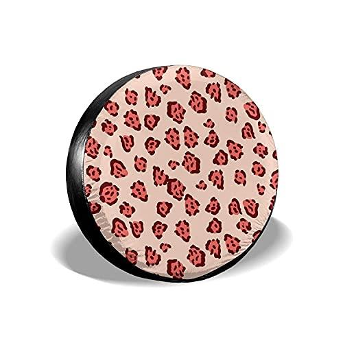 Red Leopard - Cubierta universal para llantas de repuesto, para llantas, impermeables, a prueba de polvo, protectores de llantas personalizados para Jeep, remolques, RV, SUV y camiones, 14 pulgadas