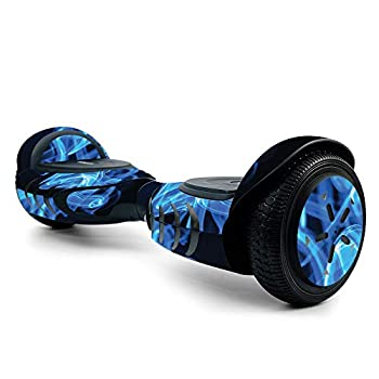 MightySkins Skin for Tomoloo Hoverboard Self Balancing Scooter - Blue Flames | Protective Durable and Unique Vinyl Decal wrap Cover | Easy to Apply Remove and Change Styles | Made in The USA