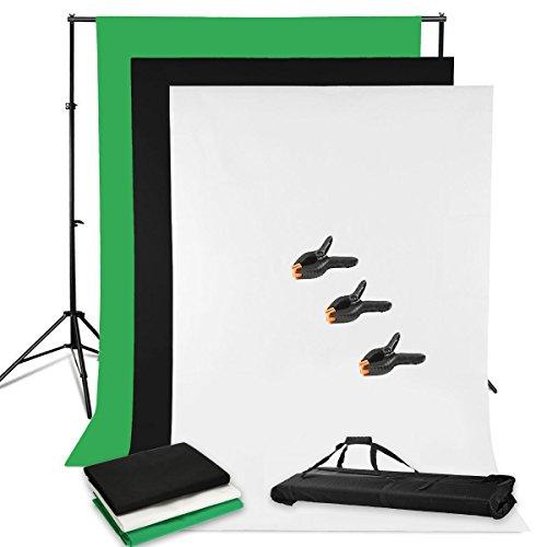 BPS Greenscreen Hintergrund Set mit Studioklemmen