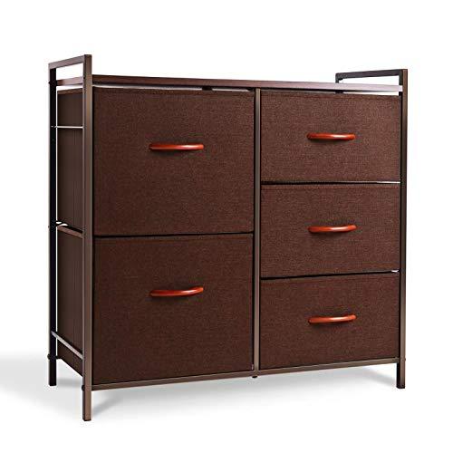 espresso 5 drawer dresser - 6