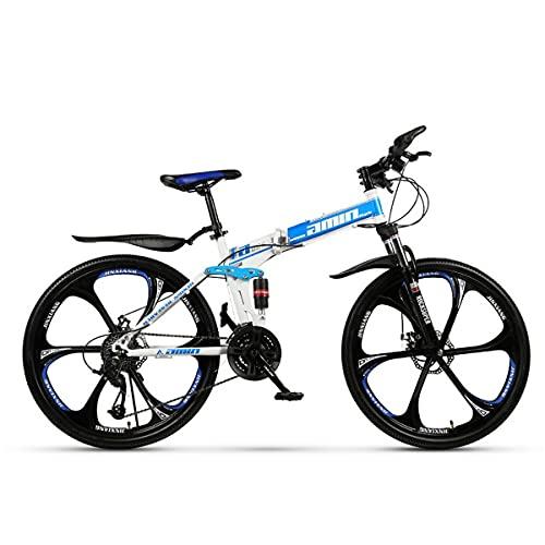 GGXX Bicicleta de montaña plegable de 24/26 pulgadas, para deportes al aire libre, de carbono, desviador de 21/24/27/30 velocidades.