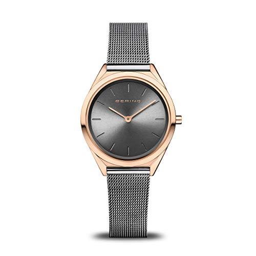BERING Unisex Analog Quartz Uhr mit Edelstahl Armband 17031-369