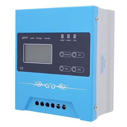 Boquite MPPT Solarladeregler 12V/24V/48V/96V Batterieladungsregler Erweiterte Tracking-Technologie mit Display(MPPT-MINI-30A)