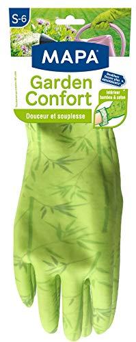 Mapa - Garden confort - Gant de jardinage en latex intérieur bambou et coton - Doux et absorbant - Taille 6/S