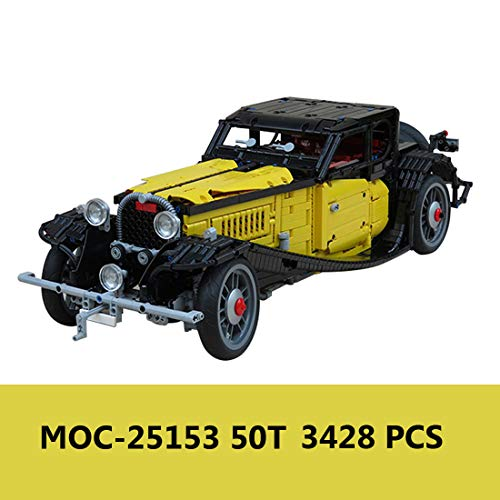 HYZM Technik Oldtimer Modellautos Bausteine, 3428 Teile Vintage Car Bausatz Konstruktionsspielzeug, Kompatibel mit Lego Technic
