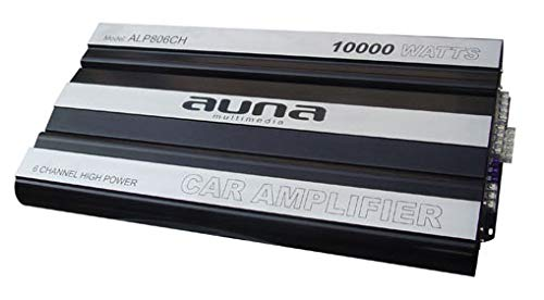 "Auna ""Hongkong Set Stereo HiFi 4.1 per Auto 10000W 4 Casse (6x1665W RMS à 2 ohms, Tecnologia Mosfet, Ingressi 6 RCA, Crossover Separato)"