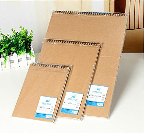Cuaderno de bocetos A5/A4/A3 para adultos y niños, 160 g/m² de papel kraft para dibujar, acuarela, paisaje, 1 paquete