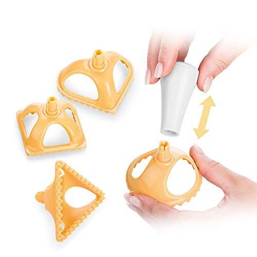 Good01 Clearance Deal 4 stampi per ravioli rotondi a forma di cuore quadrato Jiaozi da cucina Multi