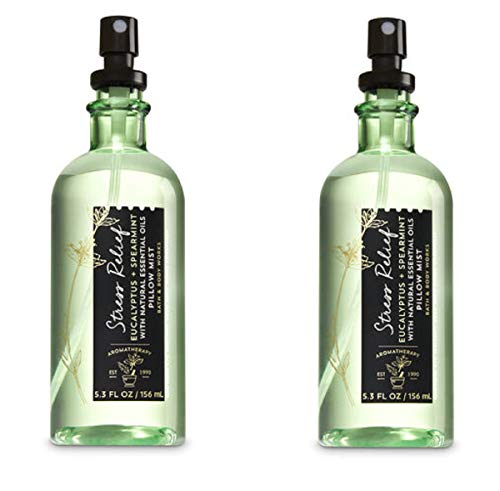 Bath & Body Works Aromatherapy Stress Relief Eucalyptus Spearmint Pillow Mist, 5.3 Fl Oz, 2-Pack (Packaging May Vary)