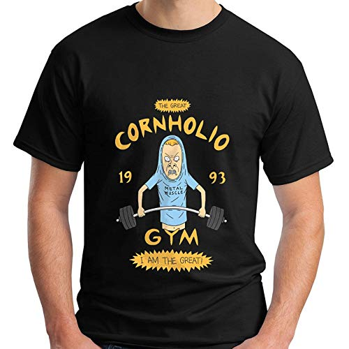 Beavis And Butthead Cornholio Gym - I Am The Great Funny Men's Black T-Shirt Men's Fashion Crew Neck Short Sleeves Cotton Tops Clothing