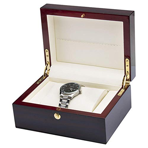 Single Watch Box Large Watch Pillow Wooden Spray Paint Watch Box Couple Watch Storage Box with Lock