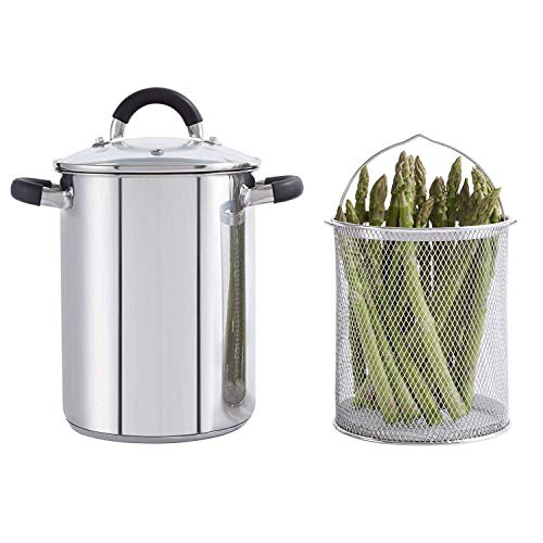 Tower Asparagus Pot and Pasta Cooker 16 cm with Removable Basket S/Steel, T80840