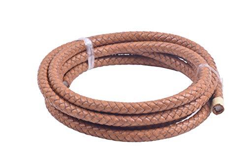 KONMAY - Cordón de cuero trenzado estilo vintage (2 yardas, 8 mm)