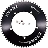 Stone Track Bike Chainring Fixie 144 BCD 1/8' Fixed Gear 49T 50 51 52 53 54 56 58 60 Tooth (58T)
