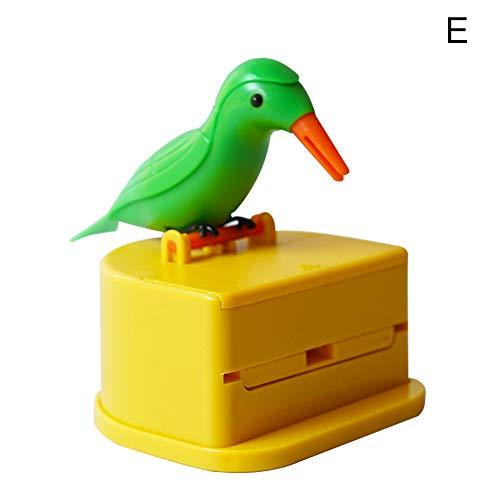 Dispensador automático de palillos dentales, dispensador automático para pájaros y palillos de dientes, caja para decoración de mesa de cocina