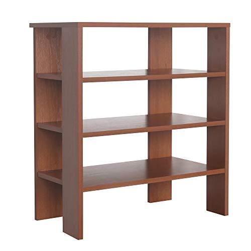 RICOO WM039-ER Estantería 70 x 60 x 32 cm Estante pequeño Librería Moderna Biblioteca Muebles de hogar Mueble almacenaje Madera Color Roble marrón