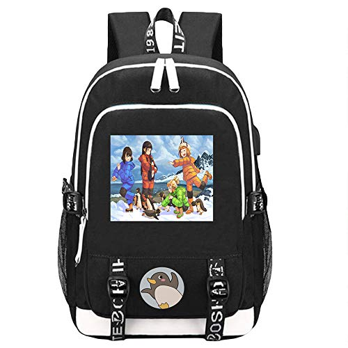 Unisex Sora Yori mo Tooi Basho Mochilas Mochila Informal Mochila Multifuncional Bolso de Viaje de Estudiante Impreso con Puerto de Carga USB Mochila Escolar (Color : A01, Size : 44 X 30 X 15cm)