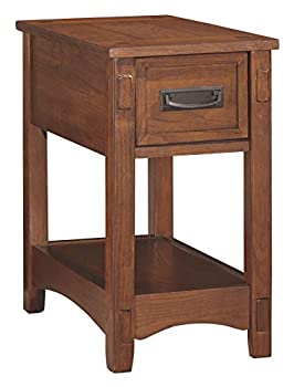 Signature Design by Ashley Breegin New Traditional Wooden Chair Side End Table with 1 Drawer and 1 Fixed Shelf Brown