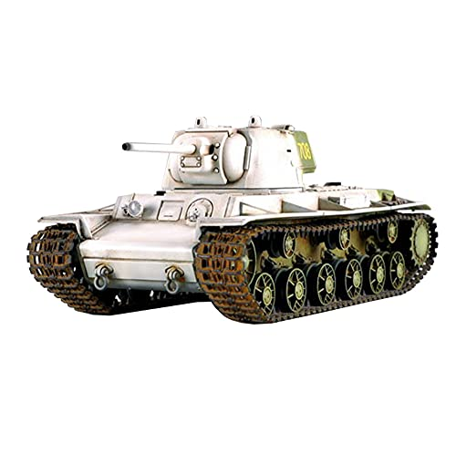 X-Toy Kits De Modelo De Plástico del Rompecabezas del Tanque, 1/35 Escala Soviet KV-1 1942 Turrete Pesado Turrete Modelo De Juguetes, 7.9 X 3.7 Pulgadas