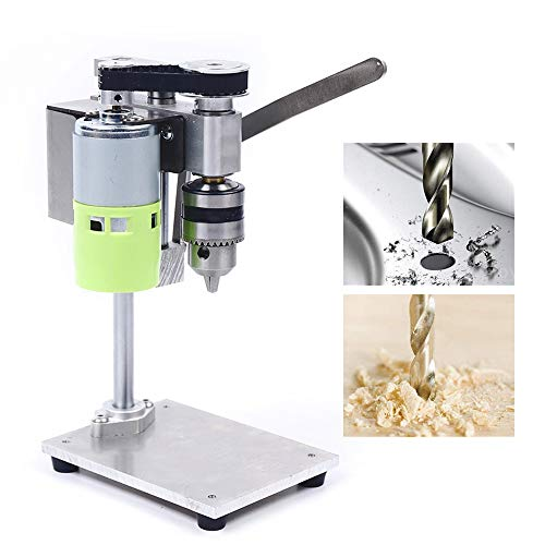 Lowest Price! KANING Small Benchtop Drill Press,Bench Drill Stand 96W Mini Electric Bench Drilling M...