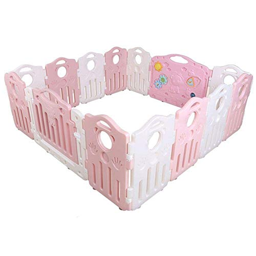Best Price PNFP Baby Playpen Indoor Children's Game Fence 14 Panels Toddlers Playards