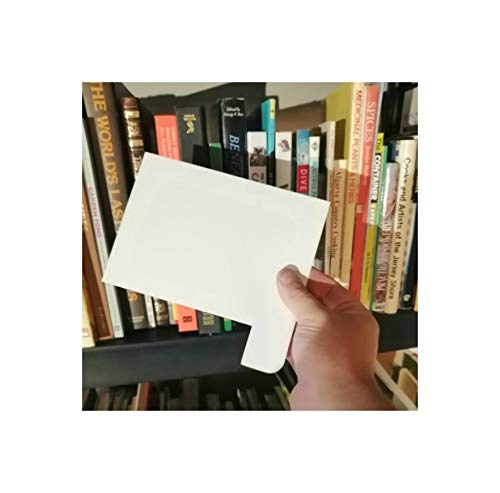 Filotrax Shelf Markers - Universal Dividers For Books, Music, Games (10 Pack, White)