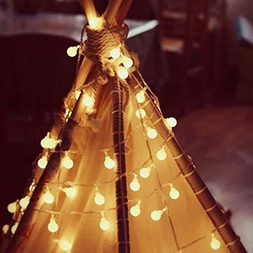 Luces de cadena LED luces de guirnalda de bolas fiesta de navidad festiva luces de cadena de jardín al aire libre a prueba de agua usb 3m30 leds