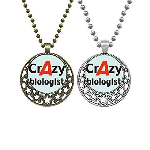 Crazy Biologists Necklace Pendant