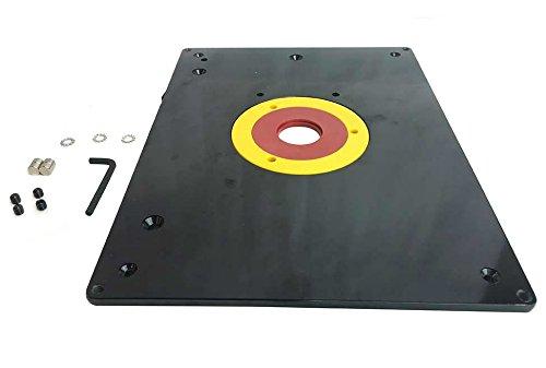 Router Tabelle einfügen Platte 235x 305x 9mm mit Ringe für Holz