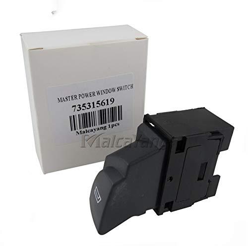 MNBHD Interruptor de ventana 735315619 6554.T3 Interruptor de elevalunas eléctrico para Peugeot Boxer I FL 2002-2006, apto para Citroen Jumper Et FL (2002-2006)