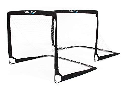2er Set klappbare Fußballtore - von EASY2PLAY - Pop up Goal - Faltbares Tor je 120 x 90 x 90 cm - 3 Jahre Garantie