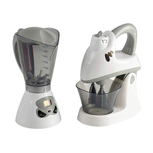 Constructive Playthings-PGL-31 Appliances Mixer and Blender Set for Toy Kitchens, Pretend Play Action-Fun Kitchen Mixing Appliances for Ages 3+