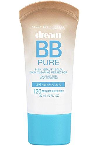 Maybelline New York Makeup Dream Pure BB Cream, Medium Skintones, BB Cream Face Makeup, 1 fl oz