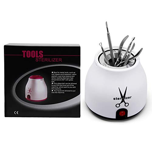 Nail Tool Sterilizer Implement Disinfect Pot High Temperature for Manicure Nail Utensils Salon Nipper Tattoo Equipment Disinfection