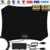 TV Antenna, 2020 Amplified HD Digital Indoor Antenna 200 Miles Range HDTV Antenna, 17ft Coax Cable Indoor Antenna for 4K HD Free Local Channels - Support All Television