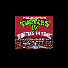 Teenage Mutant Ninja Turtles Iv - Turtles In Time 16 Bit Big Gray Game Card For Usa Ntsc Game Player