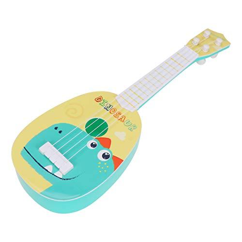 Milisten Kinder Kunststoff-Ukulele, Gitarre, Spielzeug, 4 Saiten, Dinosaurier-Muster, Kleinkinder, Musikinstrumente, Spielzeug, Mini-Gitarre, Lernspielzeug für Kinder