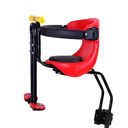 Haunen Kindersattel Fahrrad Vorne, Fahrrad Kindersitz, Faltbare Fahrrad-Vordersitz Kindersitz Pedal mit Griff für Mountainbikes, Hybridbikes und Fitnessbikes